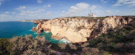 coastline: Panorama of Algarve coastline, Portugal