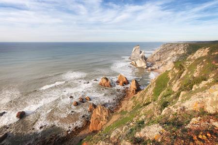 rocky coastline: Rocky coastline of Atlantic ocean, Portugal