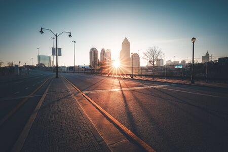 atlanta: Modern city street at sunny morning, Atlanta, Georgia, USA