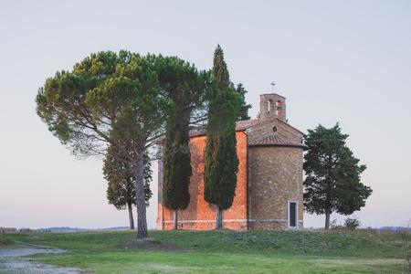 cappella: Capilla de la Madonna di Vitaleta. Toscana, Italia