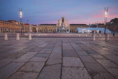 commerce: Commerce Square in Lisbon, Portugal Stock Photo