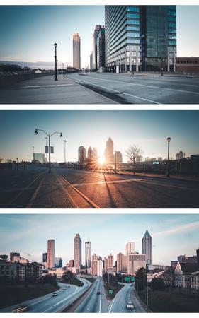 Atlanta, Georgia, USA downtown city skyline Stock Photo