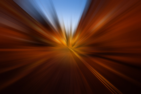 Abstract colorful zooming background. City and car moving lights Stok Fotoğraf - 111077587