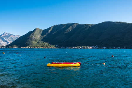Kotor bay seascape panoramic summer view, Montenegro