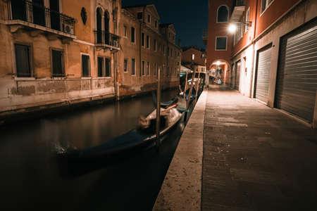 Venice old street and bridge panorama, Venice, Italy