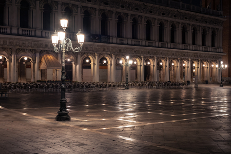 San Marco square in the morning. Venice city, Italy, Europe.