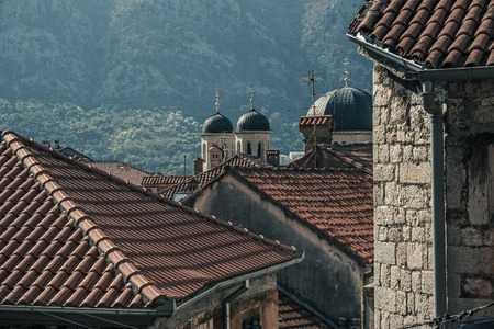 The old town-citadel of Kotor. Mediterranean style medieval architecture and landmarks, Montenegro.