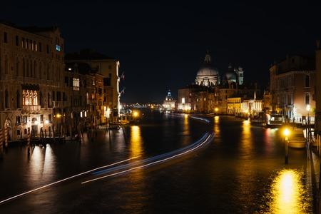 Cityscape image of Grand Canal with Santa Maria della Salute Basilica on the background, Venice, Italy