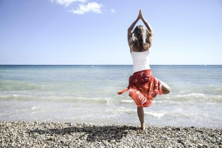 sexual chakra: Woman meditating Stock Photo