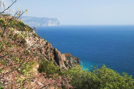 hydrochloric: Seacost of Black sea at the Crimea