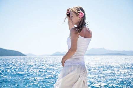 incubus: Woman at the sea Stock Photo