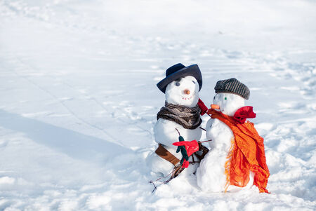 Couple of snowmen photo
