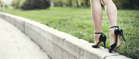 heel: Woman legs and high heels