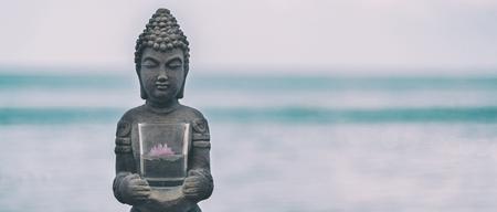 buddha statue: Buddha Statue Near The sea. Spa. Zen Stock Photo