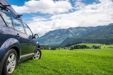 car for traveling Stock Photo