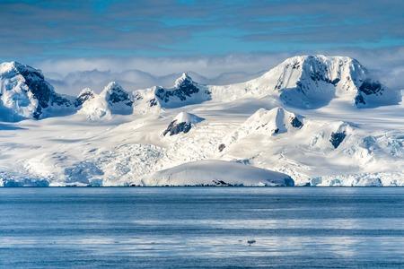 Antarctica mountains and sea. Port Lockroy Stok Fotoğraf