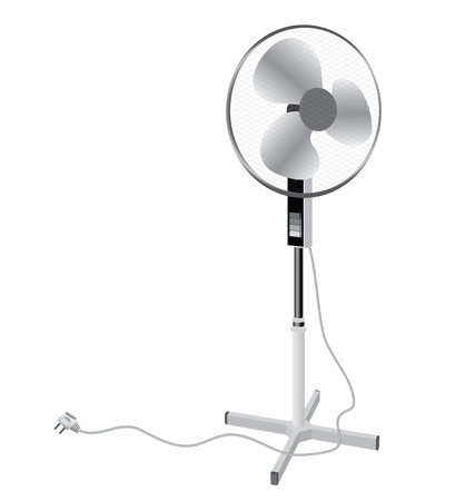 electric fan: Pedestal floor fan, ventilator for an office