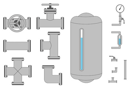 valves: A bunch of pipe pieces that you can connect together as you wish.