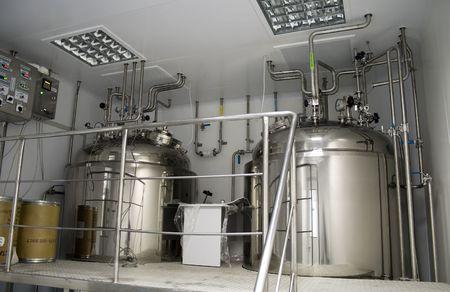 industria quimica: Sala limpia en la f�brica de productos farmac�uticos