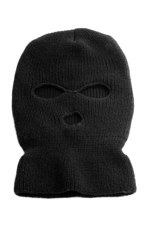 balaclava: Black ski mask aka Balaclava isolated on white