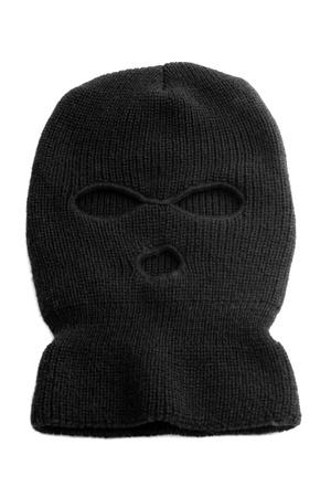 ski mask: Black ski mask aka Balaclava isolated on white