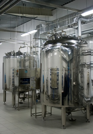 Automatic water filtration system in a pharmaceutical factory Stock Photo - 10912428