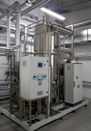 lógica: Automático de agua del sistema de filtración en una fábrica de productos farmacéuticos