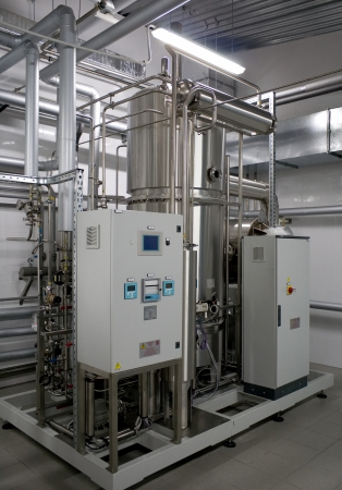 filtration: Automatic water filtration system in a pharmaceutical factory
