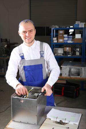 Mechanical technician at work Stock Photo - 17340755