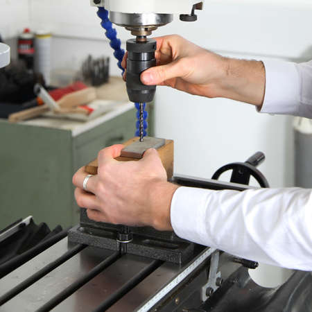 work on a milling machine Stock Photo - 17382869
