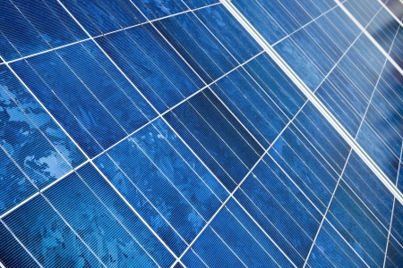 Blue Solar energy panel Stock Photo - 17438798