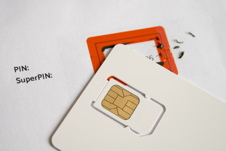 An image of a typical sim card Stock Photo
