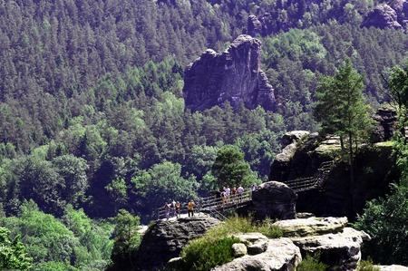 schweiz: View over German National Park Sachsische Schweiz
