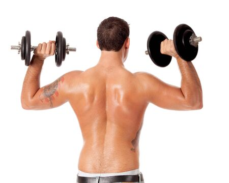 sem camisa: Lifting Weights