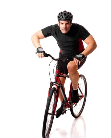 Cyclist Riding Bike photo