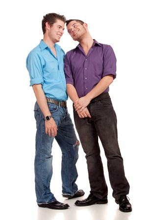 gay couple: Gay Couple Stock Photo