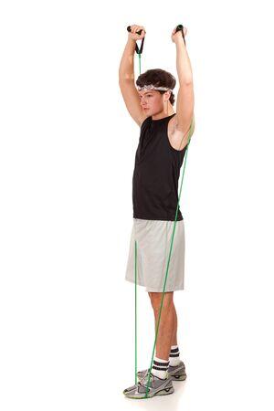 Young Man Exercising photo