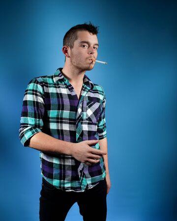 flannel: Man in Blue Flannel