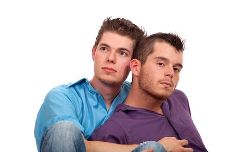 hombres gays: Pareja gay  Foto de archivo