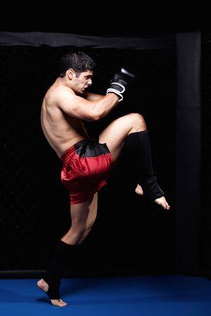 arte marcial: Marciales mixtas antes de una pelea  Foto de archivo