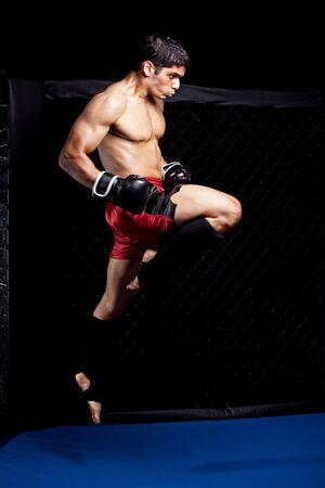 combat sport: Mixed martial artist before a fight