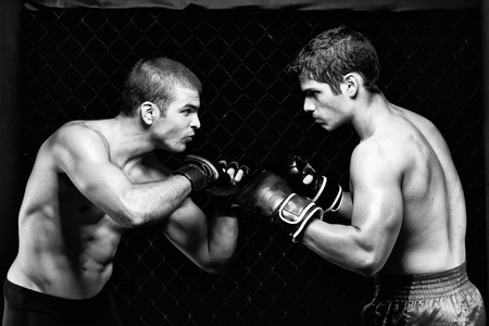 martial artist: MMA - Mixed martial artists before a fight