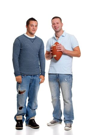 brother: Two men with football
