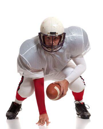uniforme de futbol: Jugador de f�tbol americano.  Foto de archivo