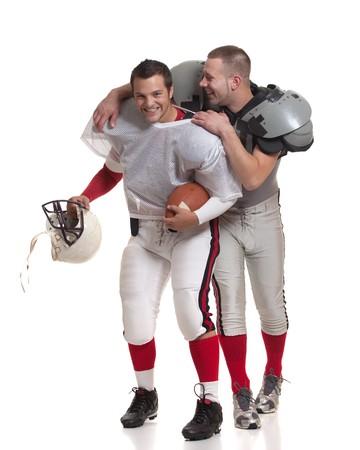 American football players. Banco de Imagens