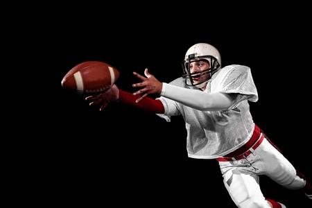 jugador de futbol americano: Jugador de f�tbol americano.  Foto de archivo