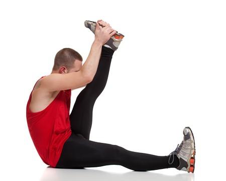 Runner Stretching Zdjęcie Seryjne