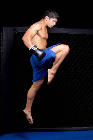 fighters: Mixed martial artist before a fight
