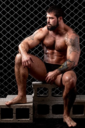 muscular man: Bodybuilder