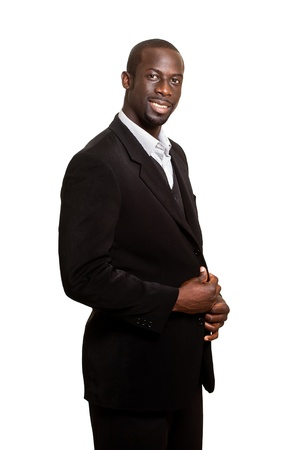 Formal Man on White Stock Photo
